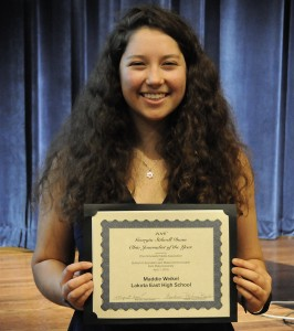Maddie Weikel, Georgia Stilwell Dunn Ohio Student Journalist of the Year for 2016